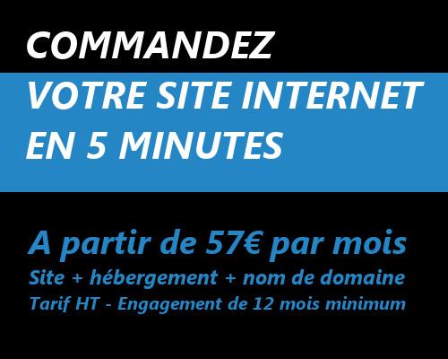 Cliquez ici pour commander votre site internet en moins de 5 minutes